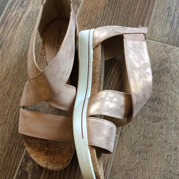 772942e3ce8 Adrienne Vittadini rose gold sport Claud sandal 10